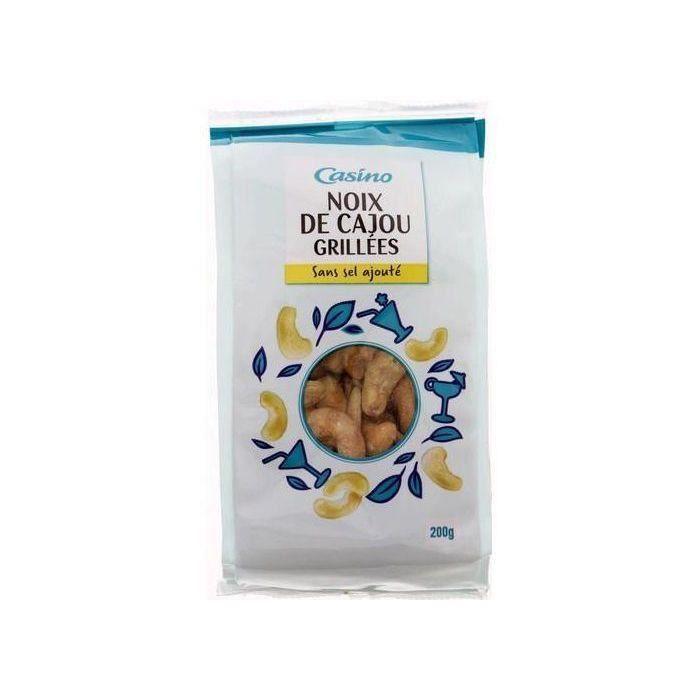 CASINO Noix de Cajou grillées - Sans sel ajouté - 200 g