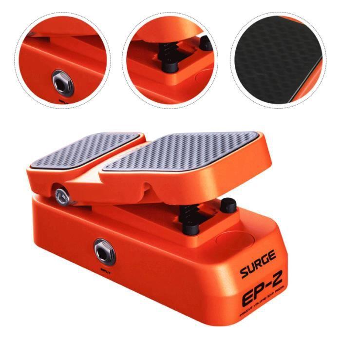 1 pc 2 en pédale de de de de de de de de de de pedale d'effets amplification effets du son