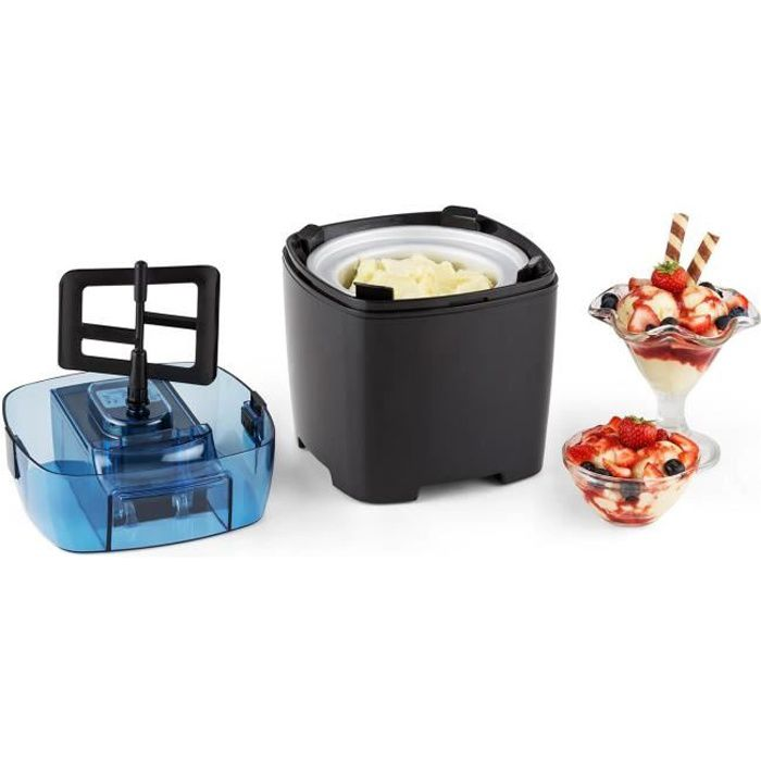 Machine à glace - Klarstein Creamberry - 1,5L - Bac isotherme - Noir