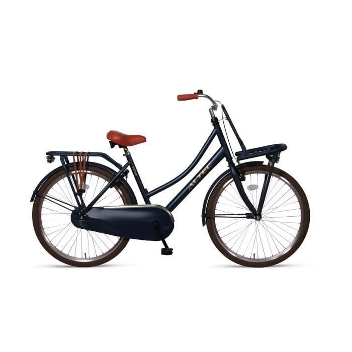 Vélo Enfant Fille 24 Pouces Urban Frein Avant sur Le Guidon et Le Frein Arrière à Rétropédalage 85% Assemblé Bleu Jeans