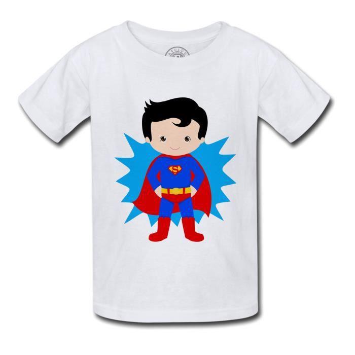 T-shirt Enfant Superboy Superman Garcon Enfant Dessin Mignon Super Hero
