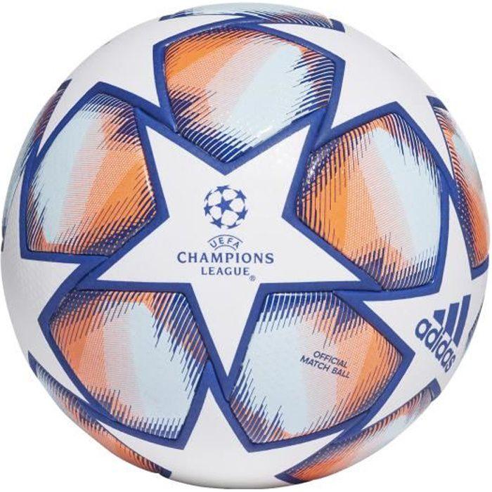 Ballon Ligue des Champions Finale 20 Pro - blanc/bleu royal/corail vif/bleu ciel - Taille 5