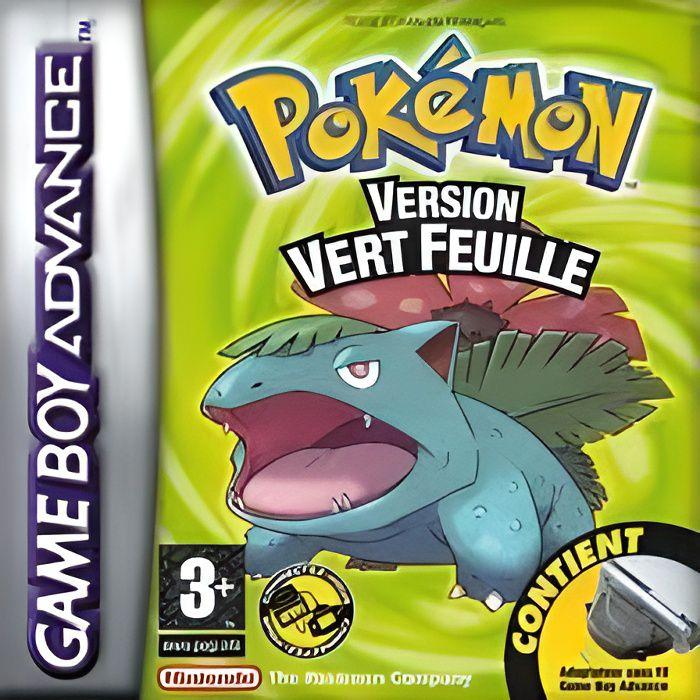 jeu gameboy advance pokemon vert feuille