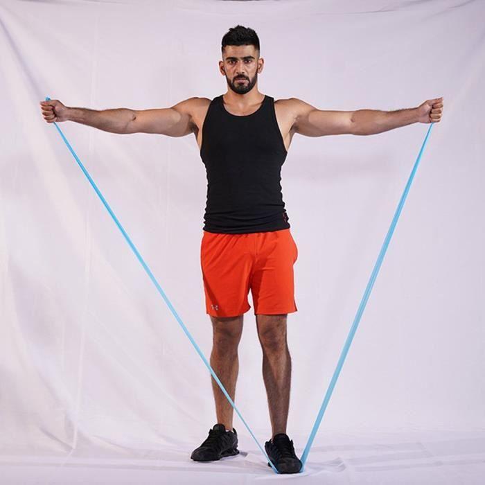 Bande Élastique Fitness,Bande de Résistance Élastique en Latex Naturel Équipement d'Exercices pour Musculation Pilates