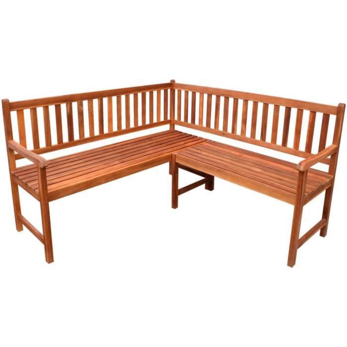 Magnifique Economique Haute qualité Luxueux Banc de coin de jardin en bois d'Acacia