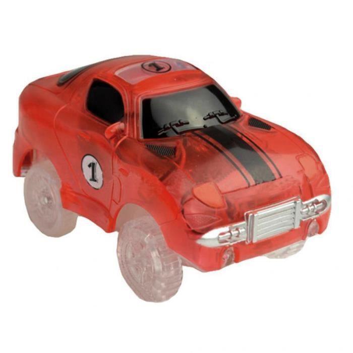 Light Up Car Track Toy Accessoires de piste de course compatibles avec la VEHICULE A CONSTRUIRE - ENGIN TERRESTRE A CONSTRUIRE