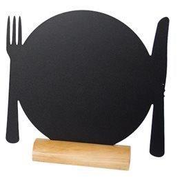 Ardoises assiettes (3) 1er prix + 1 feutre blanc