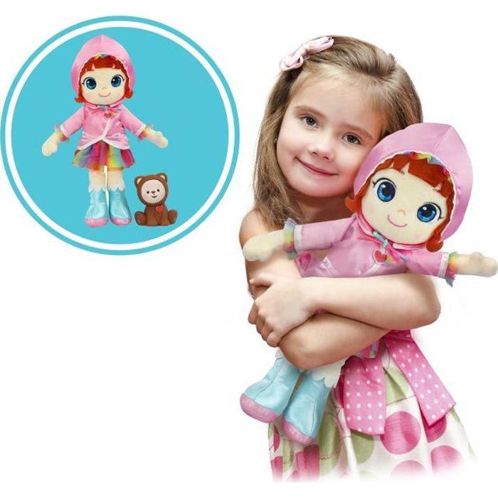RAINBOW RUBY Poupée Ruby 30 cm en tissu avec figurine Choco - 89038 - 3 ans et +
