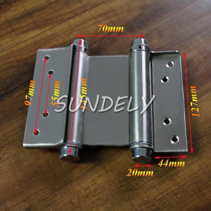 Sundely 5 -Salut-Q double charnières de porte de porte d'oscillation de porte de cuisine de restaurant de salle de manière 2 355747