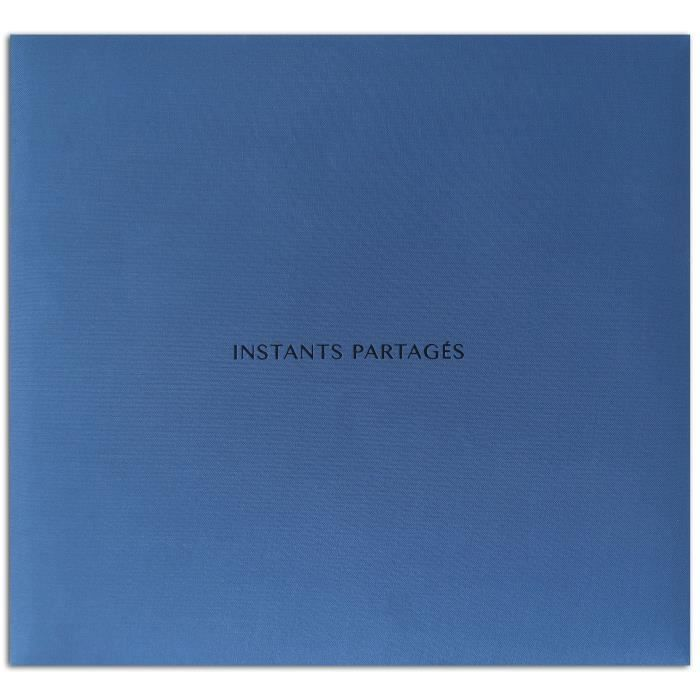 TOGA Album 30x30 Tissu Bleu -Instants Partages-
