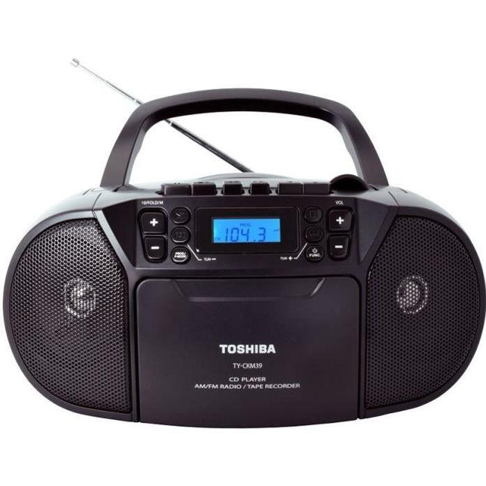 TOSHIBA TY-CKU39 BoomBox Radio CD / Cassettes portable - Noir