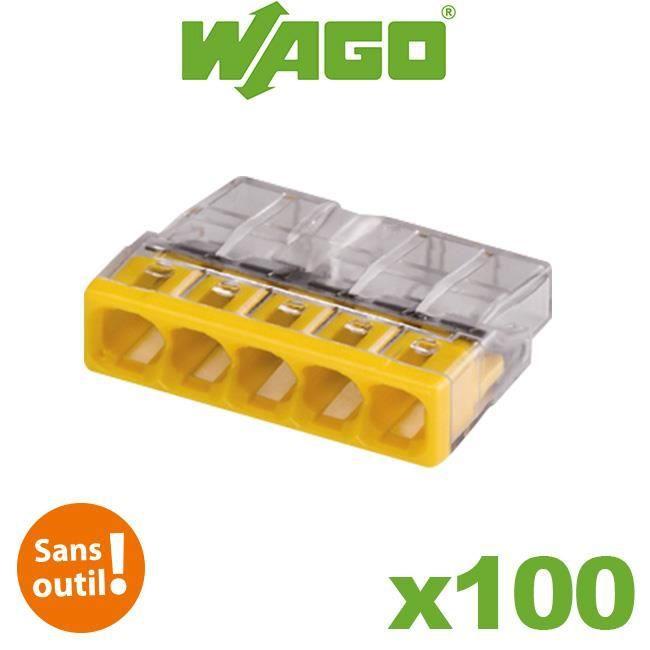 Pot de 100 mini bornes 5 fils S2273 WAGO