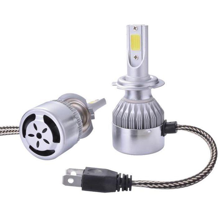 XCSOURCE 2pcs Ampoule Halogène H7 Phare Voiture LED 10000Lm 55W Ventilateur de Refroidissement 6000K Blanc LD974