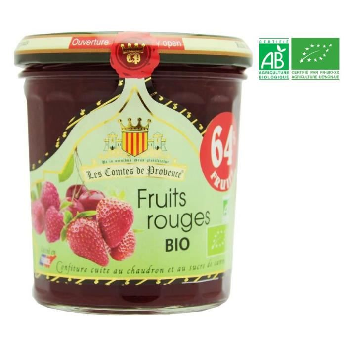 LES COMPTES DE PROVENCE Confiture de Fruits Rouges Bio - 350g