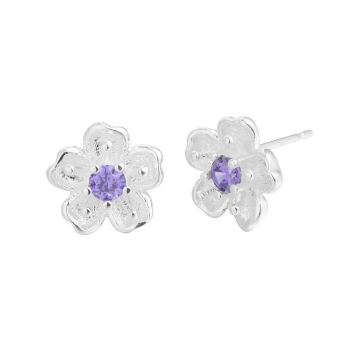 Filles élégante fleur oreille Stud boucle d/'oreilles femmes bijoux de mode d/'été