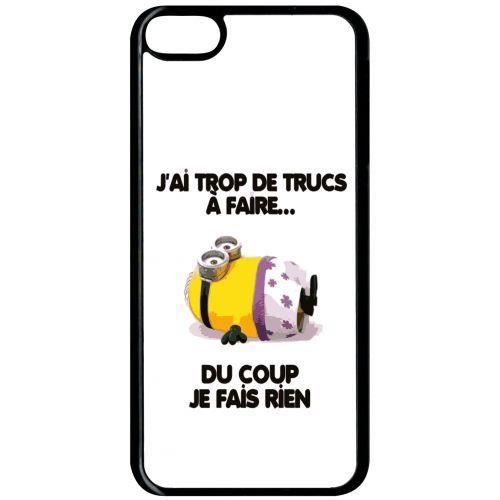 Coque Apple Ipod Touch 6 Citation Minion Je Fais Rien Achat