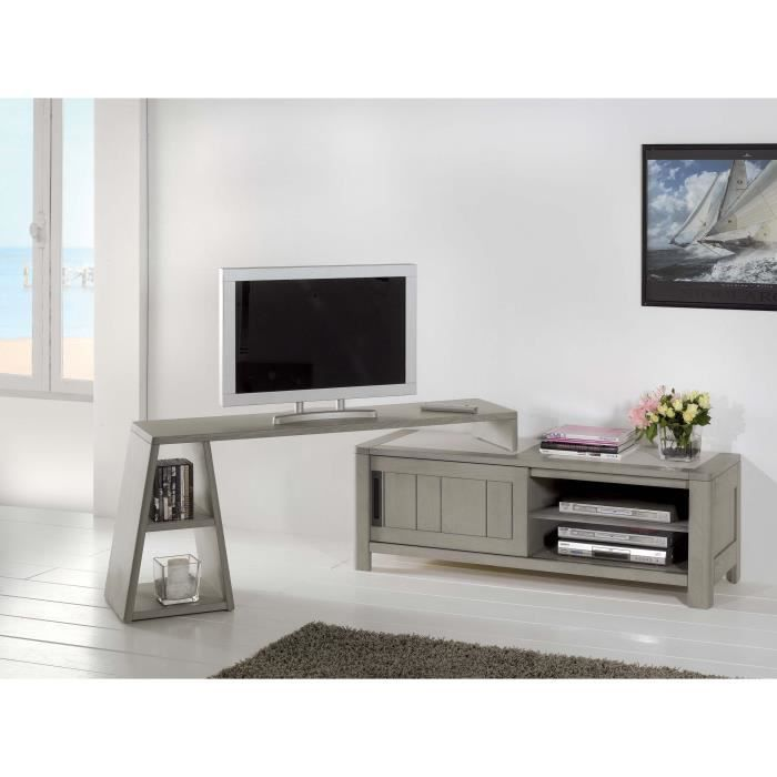 Meuble tele avec support maison design for Meuble bureau tv