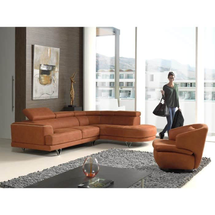 salon d 39 angle moderne orange avec t ti res meuble house achat vente canap sofa divan. Black Bedroom Furniture Sets. Home Design Ideas