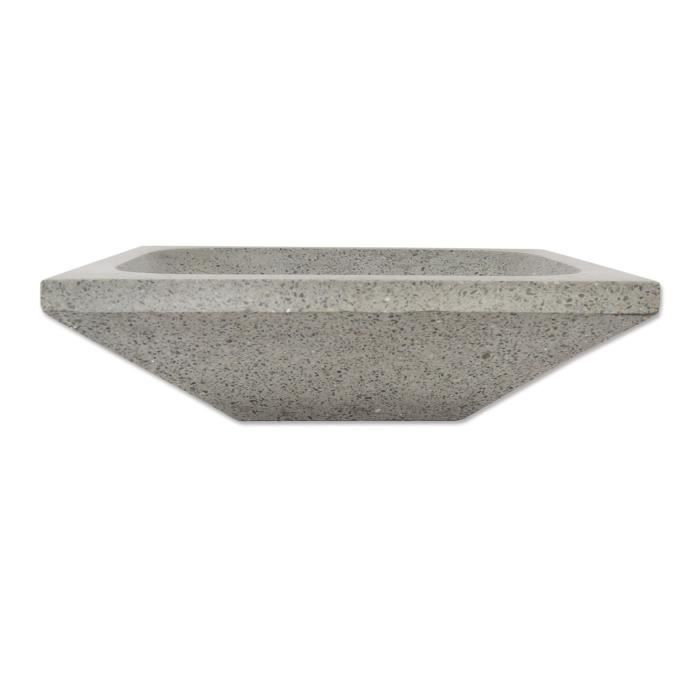 vasque 224 poser quadra rectangle gris b 233 ton en achat vente lavabo vasque vasque 224 poser