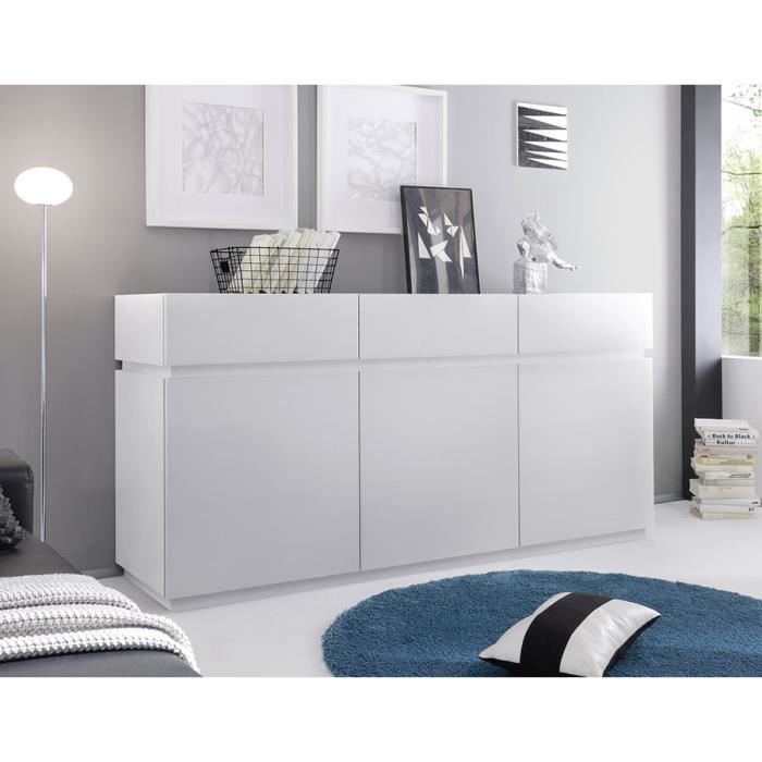 buffet bahut gris ou blanc laqu mat legos blanc achat. Black Bedroom Furniture Sets. Home Design Ideas