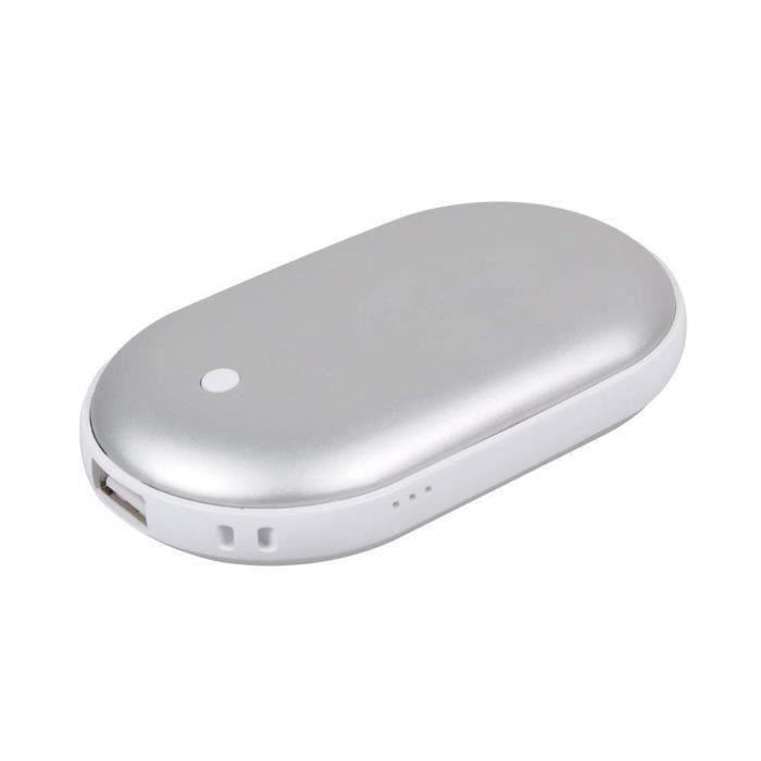 Samsung Galaxy et t/él/éphone Android Noir 6000 mAh Chauffe-Mains Rechargeable Batterie Portable pour iPhone