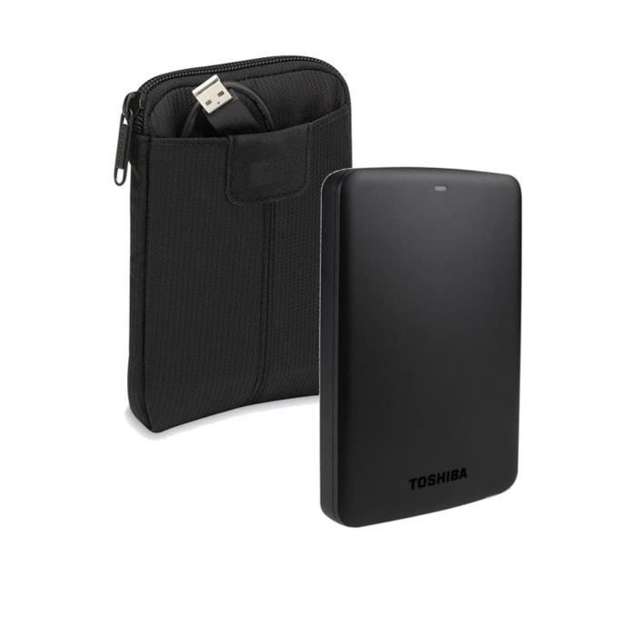 Toshiba disque dur canvio basics 2 5 1to noir case logic for Housse disque dur externe samsung m3