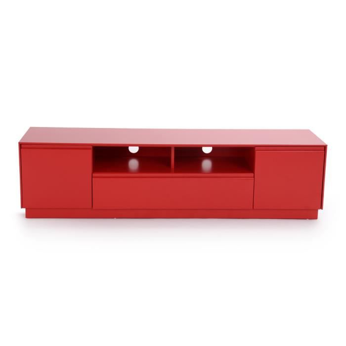 Meuble tv bas rouge for Meuble tv rouge