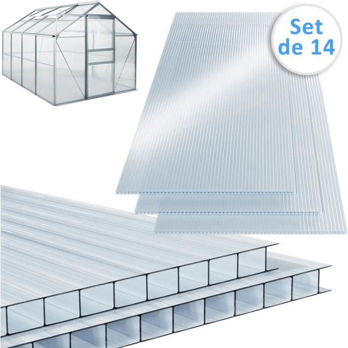 PLAQUE DE PLÂTRE Plaque de polycarbonate creux 10,25 m² (soit 14 un