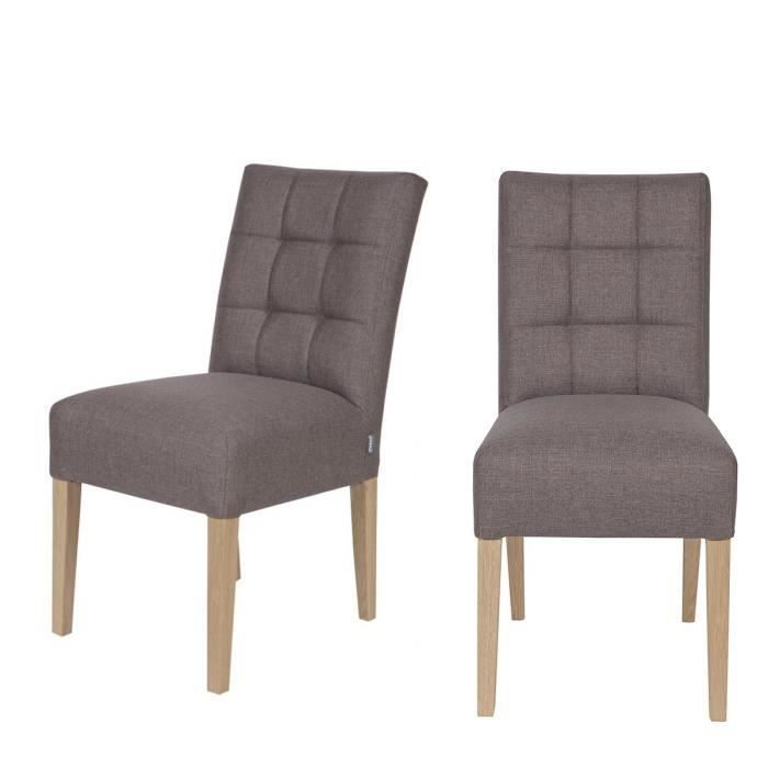 lot de 2 chaises capitonn es pauwel couleur taupe achat vente chaise gris cdiscount. Black Bedroom Furniture Sets. Home Design Ideas