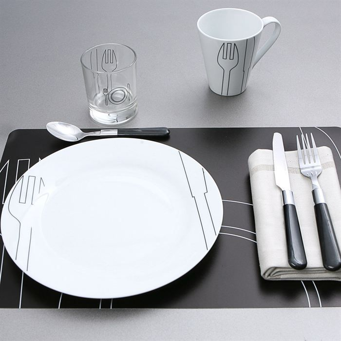 service de table 28 pi ces cuisine gourmande achat vente service complet cdiscount. Black Bedroom Furniture Sets. Home Design Ideas