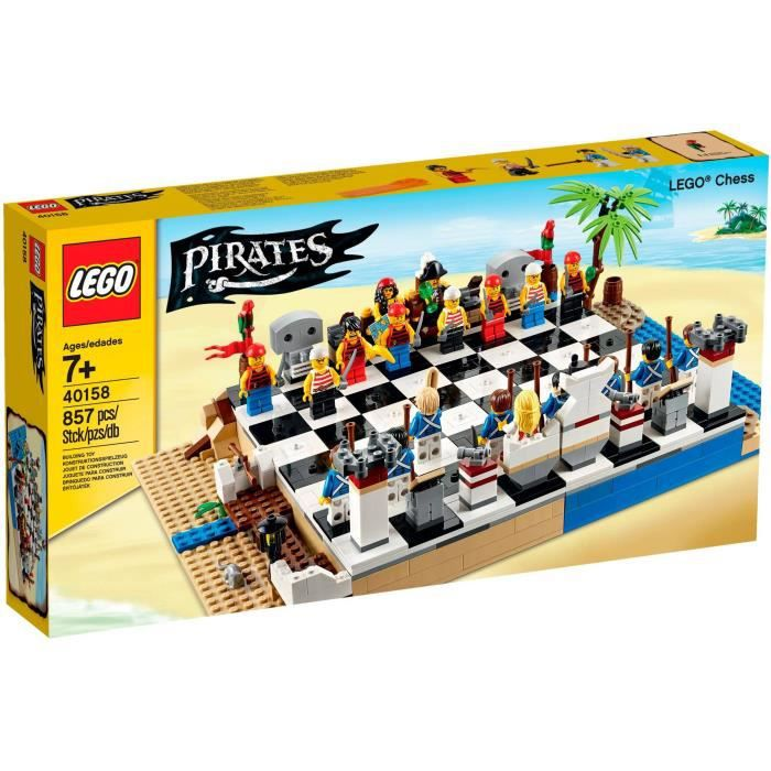 ASSEMBLAGE CONSTRUCTION LEGO Pirates - Jeu d'échecs Pirates - 40158