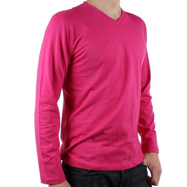 tee shirt now manches longues homme fushia rose achat. Black Bedroom Furniture Sets. Home Design Ideas
