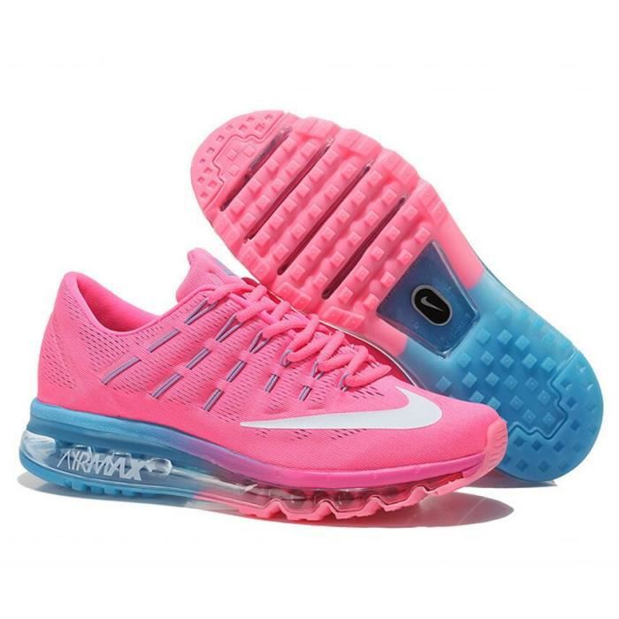 reasonable price quality hot product Nike Air Max 2016 Femmes Baskets Chaussures de running rose bleu ...