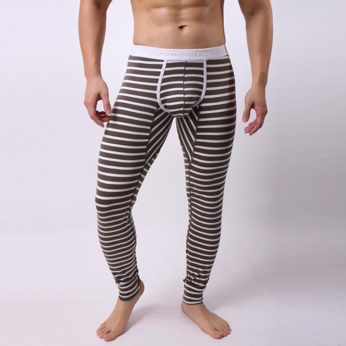 sous-vêtements thermique brossé Nouveau Pantalon Homme thermique long johns pantalons