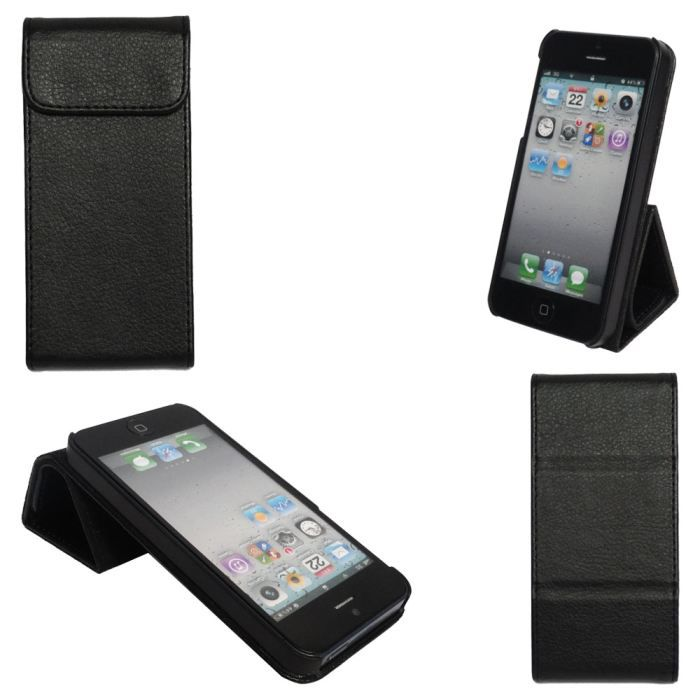Etui apple iphone 5 pliable achat housse tui pas cher for Etui housse iphone 5