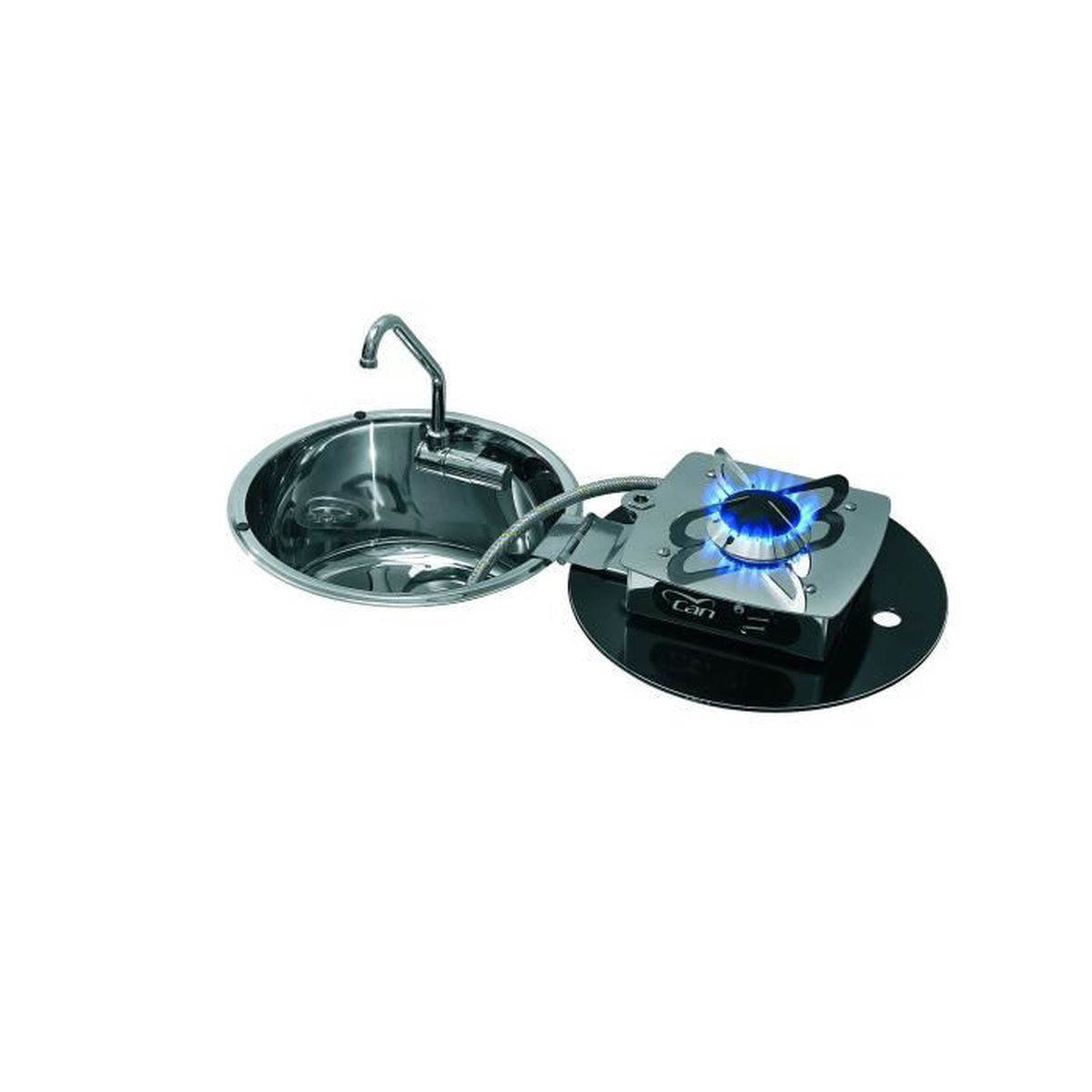 Plaque Vitrocéramique Un Feu plaque de cuisson combinée ovale rétractable 1 feu can
