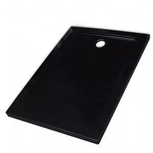 RECEVEUR DE DOUCHE Receveur de douche ABS rectangulaire noir #N23491