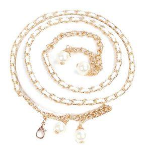 CHAINE DE TAILLE - CHAINE D'EPAULE Femmes Mode chaîne en métal perle style Ceinture c