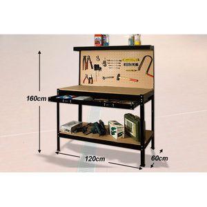 ETABLI - MEUBLE ATELIER Établi d'atelier avec panneau à outils constructio