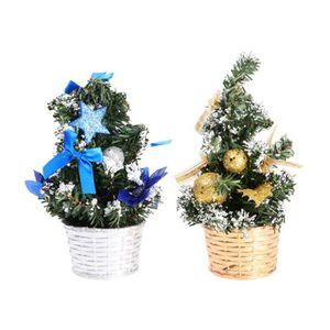 Maritime Bleu moin moin Bille de verre verre 8 cm Décorations de Noël Noël