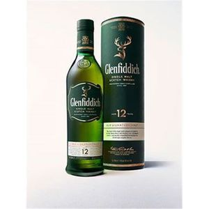 WHISKY BOURBON SCOTCH Whisky Glenfiddich 12 ans d'âge 40° 70 cl