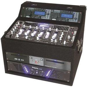 TABLE DE MIXAGE IBIZA SOUND DJ1000MKII Régie mobile amplifiée 2x48