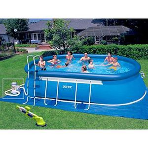 Tuyaux bache piscine hors sol ovale intex for Bache hivernage piscine hors sol intex