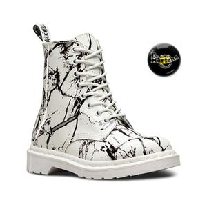 BOTTINE Chaussures Doc Martens Pascal White patent marble