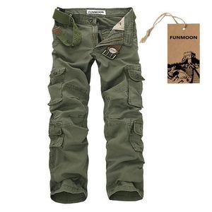 PANTALON Pantalon Cargo Hommes Multi-poches Larges Grande t