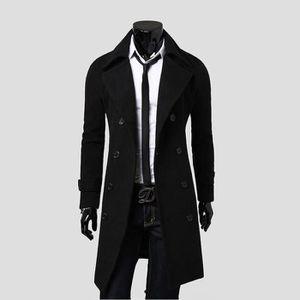 MANTEAU - CABAN Manteau de Laine Hommes Double Boutonnage Slim Fit