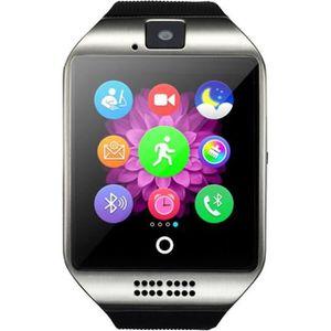 MONTRE CONNECTÉE Argenté Bluetooth Montre Smart Watch Q18 Montre Av