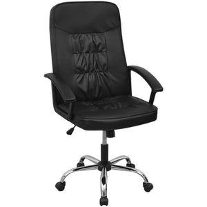 CHAISE DE BUREAU Chaise de bureau en cuir artificiel 67x70 cm noir
