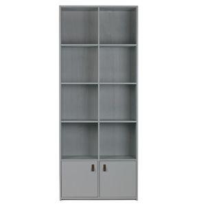 ARMOIRE DE CHAMBRE Armoire en pin massif coloris gris béton - Dim : H