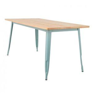 TABLE À MANGER SEULE Table LIX en Bois (160x80) Bleu Île Paradis Bois N